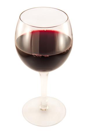 copa de vino: Copa de vino rojo sobre un fondo blanco