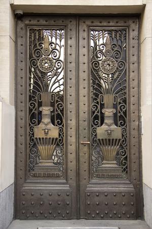 Bronze porta Art Deco Archivio Fotografico - 36383348