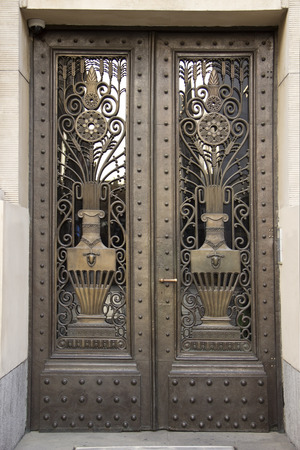 metal textures: Vintage bronze Art Deco door