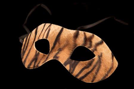 Carnival mask on a black background photo