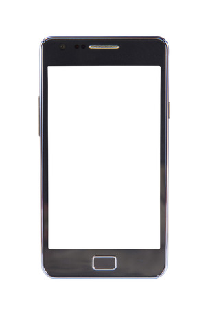 touch screen phone: Mobile phone isolated on white