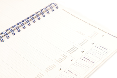 Weekly planer close up