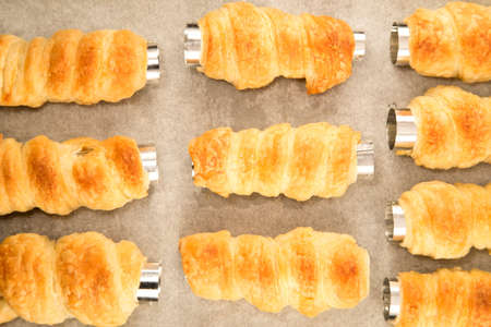 Baking biscuits rolls photo
