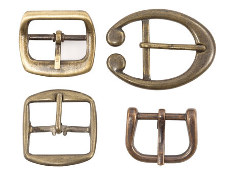 buckles: Vintage belt buckles isolated