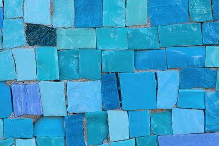 murano: Blue murano tiles background Stock Photo