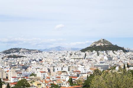 acropolis: View of Athens from Acropolis, Greece Stock Photo
