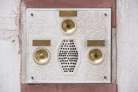 intercom: Intercom on a marble facade