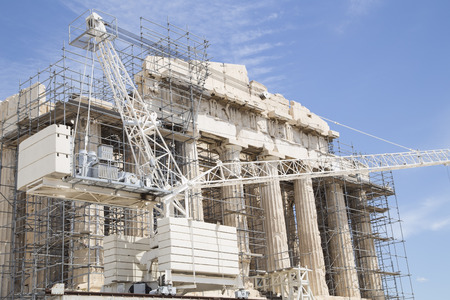 restoration: Restoration of the Parthenon on Acropolis, Athens Editorial