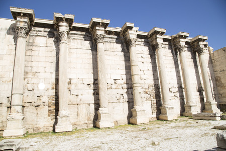 hadrian: Remains of Hadrian Library in Athens, Greece