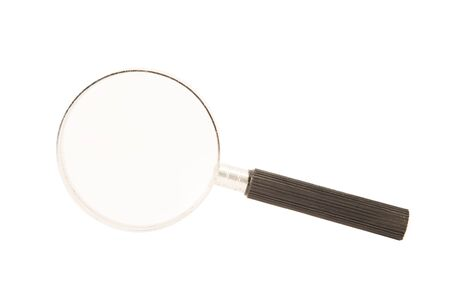 Magnifying glass with a black plastic handle Standard-Bild