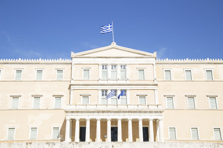 greece: The Greek Parliament Building in Athens, Greece