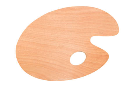 bloc: Wooden palette on a white background