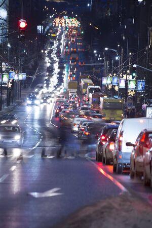 night traffic: Night traffic in the winter time