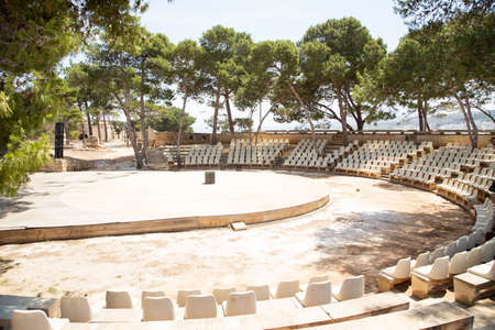 rethymno: Contemporary amphitheater in the old town of Rethymno, Crete, Greece