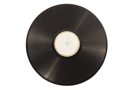 Old vinyl lp record isolated