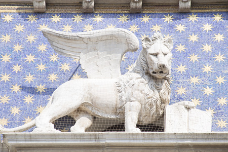 winged lion: The winged lion of St. Mark - the symbol of  Venice Stock Photo