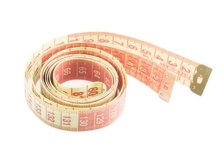 measuring tape: Measuring tape isolated Stock Photo