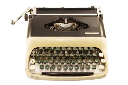 maquina de escribir: Aislado M�quina de escribir antigua Foto de archivo