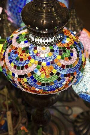 lightening: Colorful lightening Oriental lamp Stock Photo