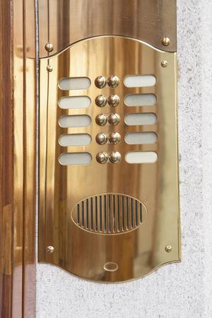 intercom: Brass intercom close up