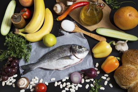 aurata: Food ingredients and aurata fish