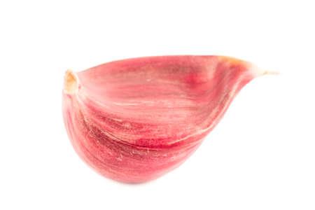 garlic clove: Garlic clove isolated on white Stock Photo