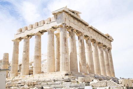 acropolis: Parthenon on the Acropolis, Athens, Greece Stock Photo
