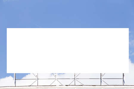 Blank billboard over a blue sky