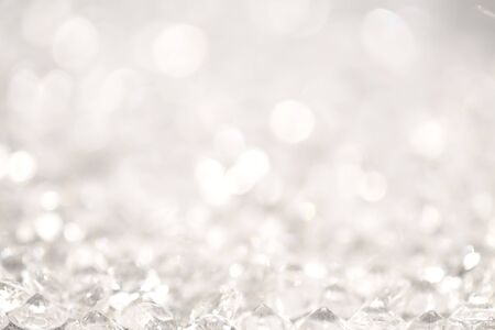 glimmering: Abstract silver glitter light background Stock Photo