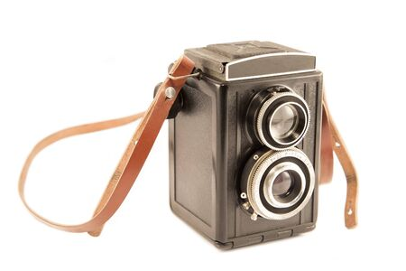 strap: Old camera with the vintage strap