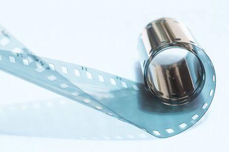 Film strip roll close up
