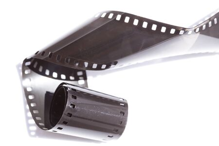 Film strip roll with the shadow