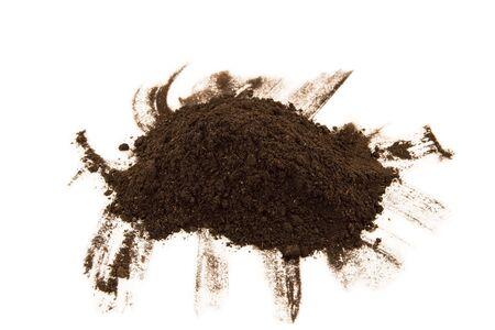 earth handful: Soil heap on white background