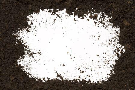 dirt: Dirt frame on white background