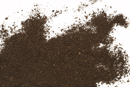 Dirt mucchio isolato su bianco Archivio Fotografico - 60348009