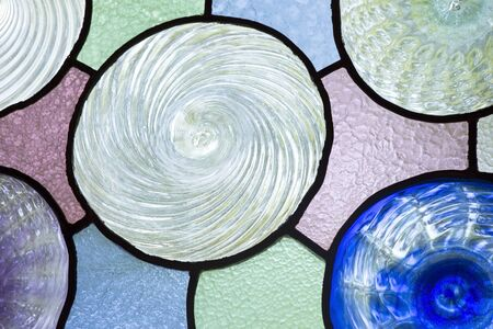 stained glass panel: Colorful stained glass window Stock Photo