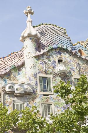 Casa Batllo in Barcelona, Spain Editorial