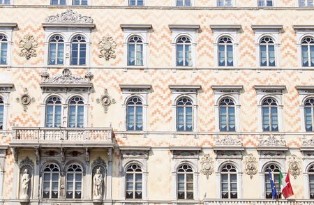 trieste: Detail of the facade of Palazzo Storico in Trieste