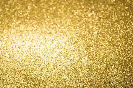 glitzy: Yellow glittering abstract light Stock Photo