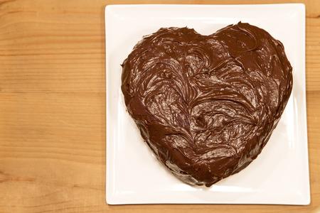 torte: Chocolate torte on a white plate