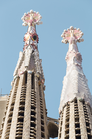 sagrada: Towers of Sagrada Familia - The Roman Catholic church in Barcelona