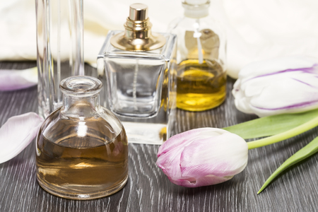 Essential oils with tulips