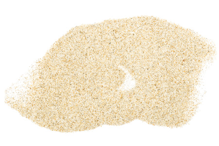 Sand heap isolated on white