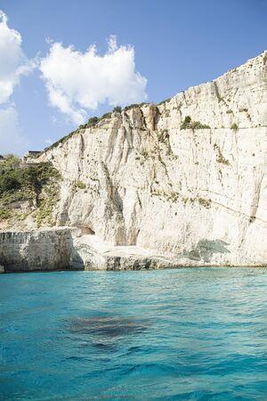 Zakynthos coast with turquoise water Stock Photo