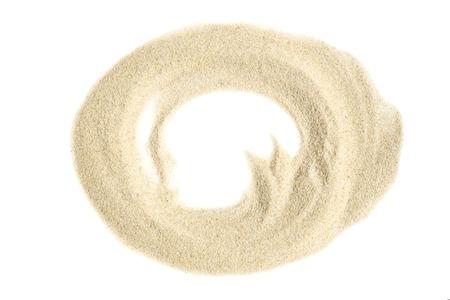 Sand circle on white background
