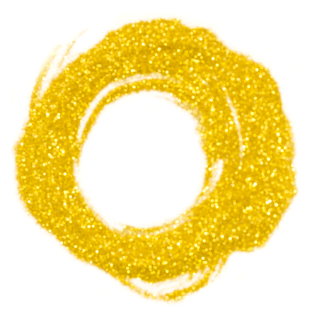 Gold glitter abstract light circle
