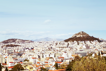 View of Athens from Acropolis, Greece 版權商用圖片