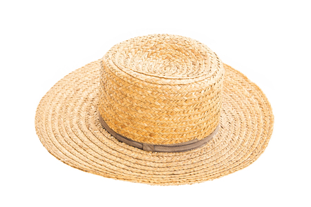 Old stray hat isolated on white