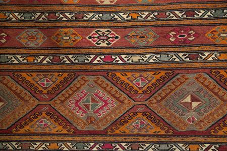 Alfombra griega con el patrón tradicional.