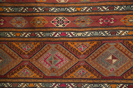 Greek carpet with the traditional pattern
